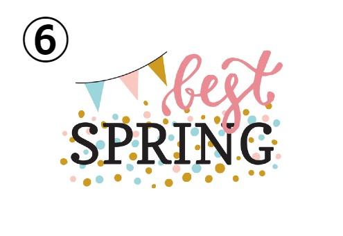 春 spring ロゴ デザイン 友達 心理テスト