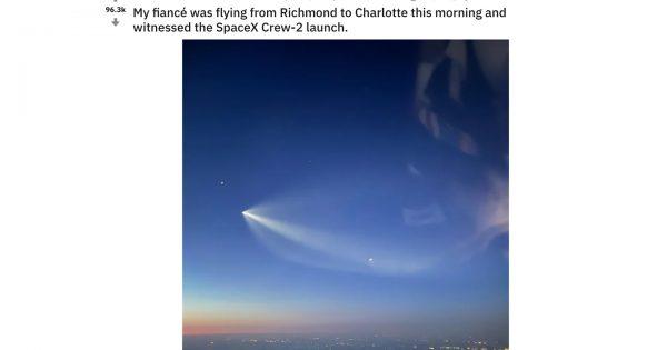宇宙飛行士・星出さん搭乗の宇宙船を「空から撮影した写真」がカッコ良すぎると海外で話題