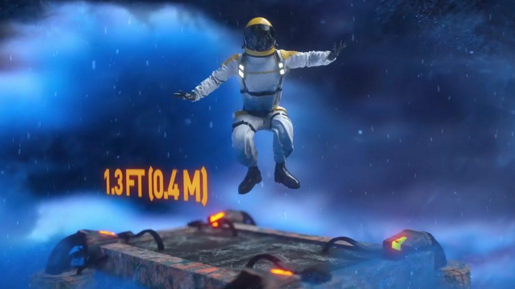 海王星で宇宙飛行士がジャンプした時に飛べる高さのYouTubeのキャプチャ