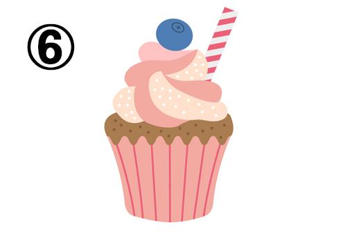 カップケーキ 感情表現 心理テスト