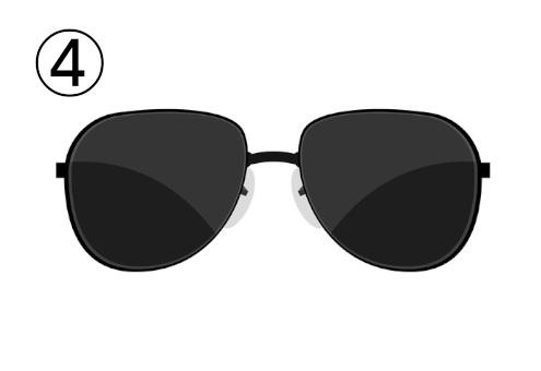ティアドロップ型のサングラス