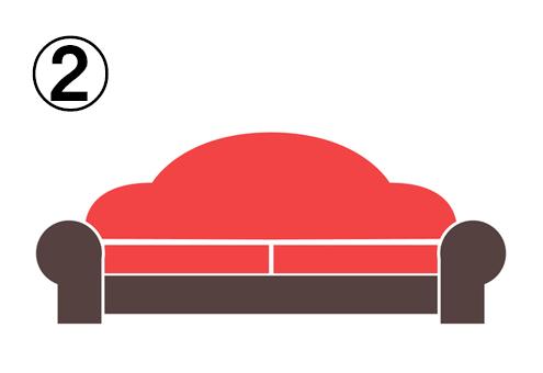 雲のような形の背もたれなソファ