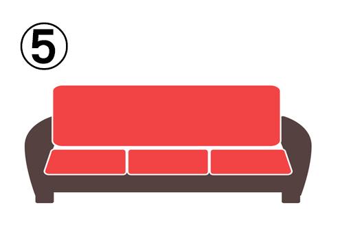 横長の四角いソファ