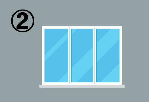 四角いシンプルな窓