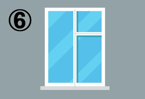 三分割された長方形の窓