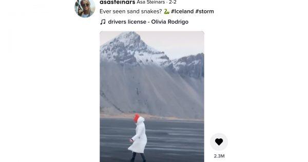 CG一切なし。アイスランドの自然が創る「砂のヘビ」現象が圧巻