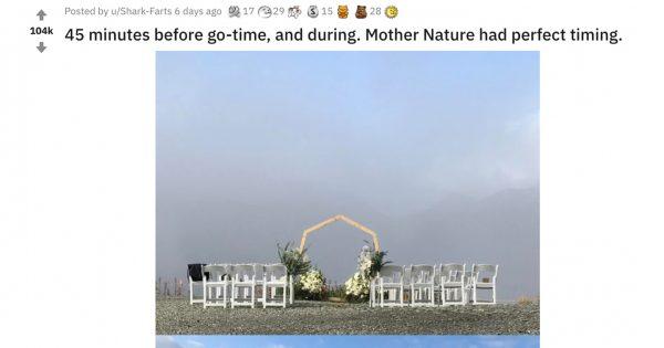 曇り空が一転!「結婚式で起こった奇跡」をネット民が4コマ漫画で祝福