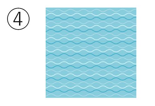 細かい波模様