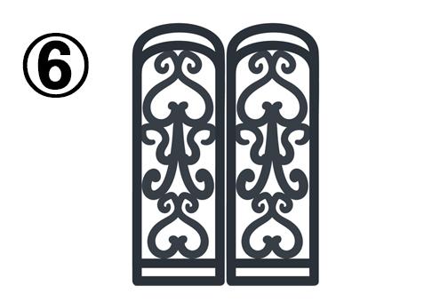 繊細なデザインの細めの窓枠