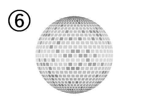 白、グレーに光るミラーボール