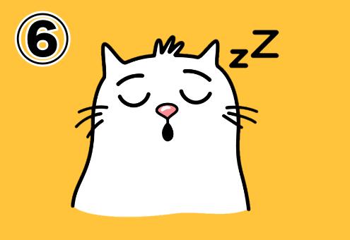 寝ている猫のスタンプ