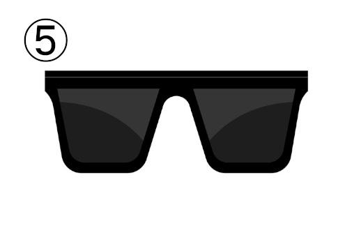 四角いサングラス