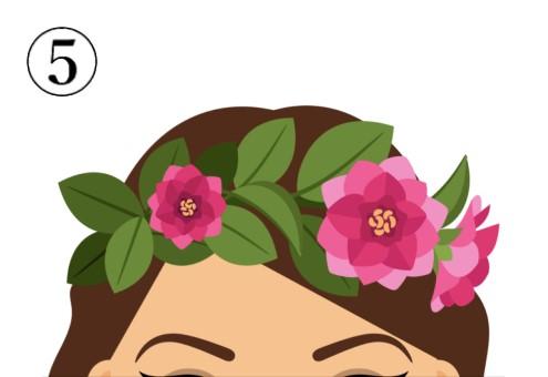 ピンクの大きめな花の花冠