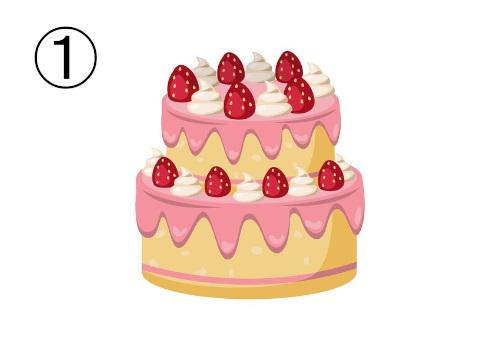 いちごの三段重ねケーキ