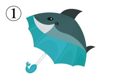 サメ柄の傘