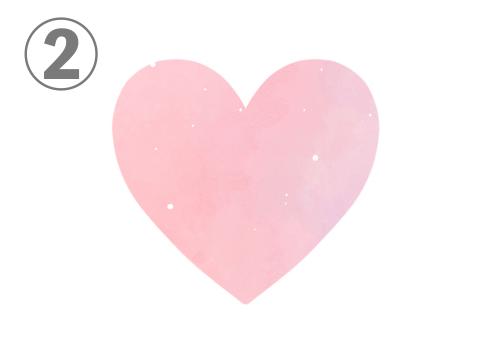 ハート 恋愛 性格 心理テスト