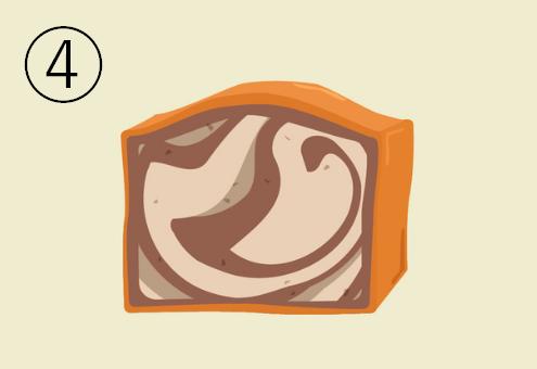 コーヒーのマーブルパウンドケーキ