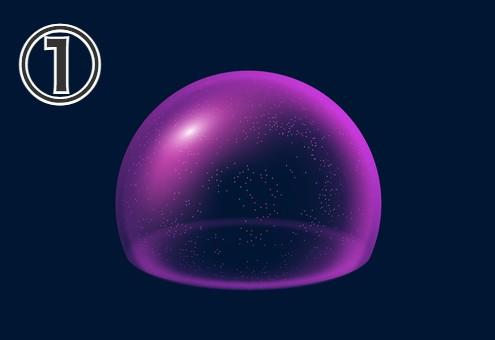 紫のザラついたシールド