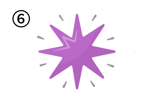 トンガリが7つある紫の星