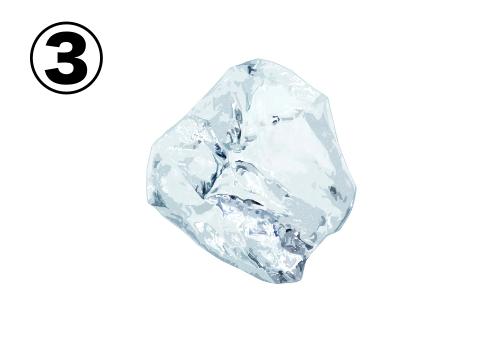 角の少ない氷