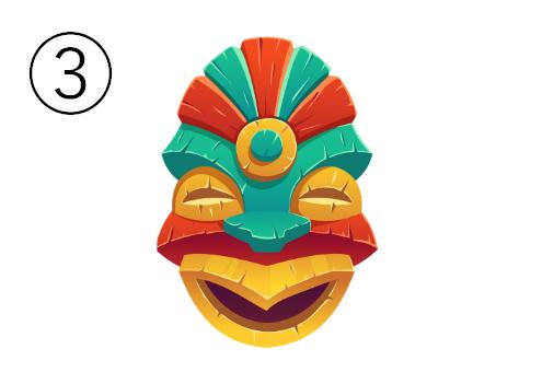 笑った鳥のような顔のマスク