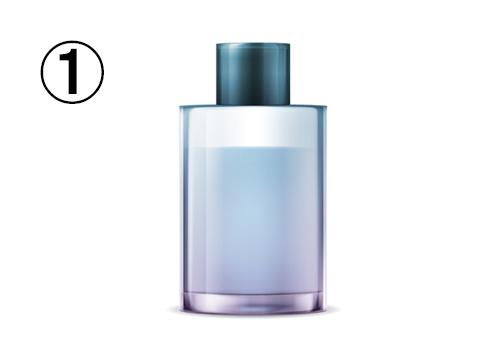 円柱のしっかりしたブルーグレーの香水瓶