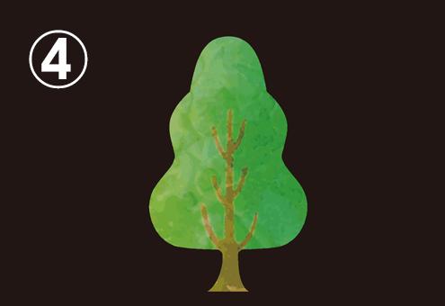 細長い広葉樹