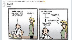 社員の休みを優先してる…?自称「ホワイト企業」への皮肉を描いた4コマに共感の声