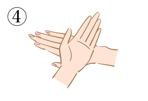 手の甲を合わせて罰を作っている図