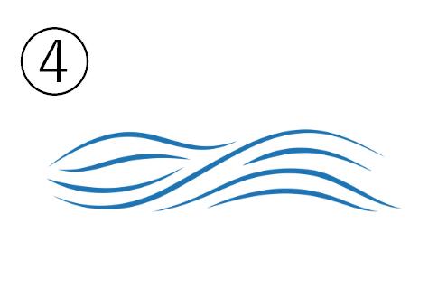 穏やかな曲線の波