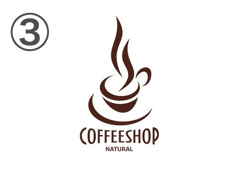 湯気がメインの上アングルなデザインのロゴ