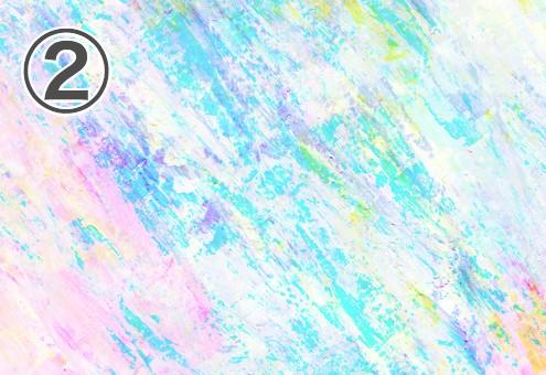 白地に明るいネオンカラーが斜め方向に塗られた絵