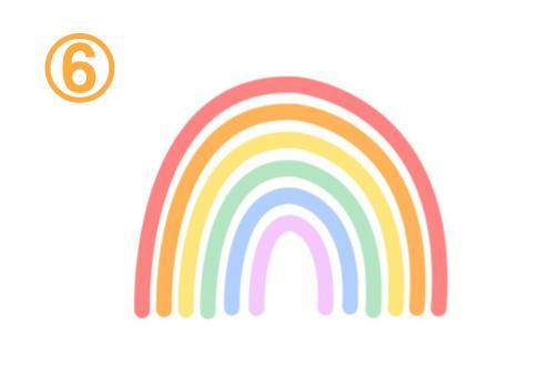 隙間のあいた細い虹