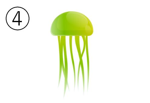 黄緑のお椀型のクラゲ