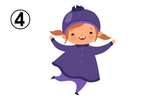 ブルーベリーの服と帽子