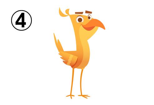 黄色いスマートな鳥