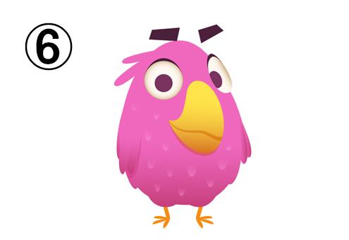 ピンクの顔が大きい鳥