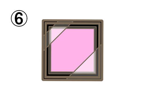 薄ピンクのシングルアイシャドウ