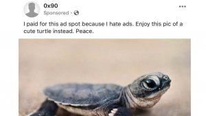 「広告が嫌いなので…」カメでFacebook広告を駆逐する試みを知ってる?応援メッセージも多数
