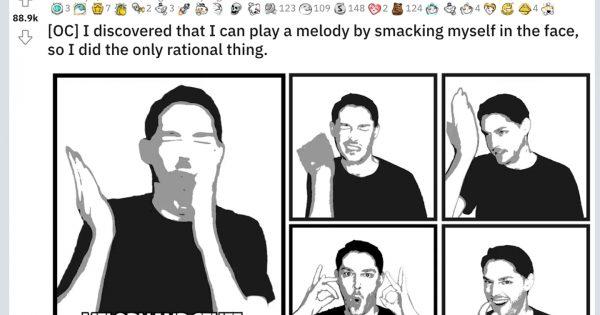 【なぜベストを尽くした】a-haの名曲『Take On Me』を自分の顔だけで演奏したアメリカ人