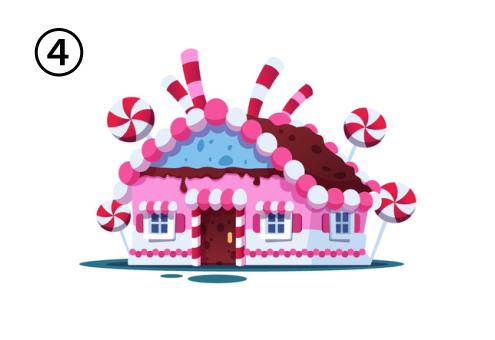 キャンディでできたおかしの家
