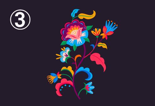 カラフルな、繊細な色味の花