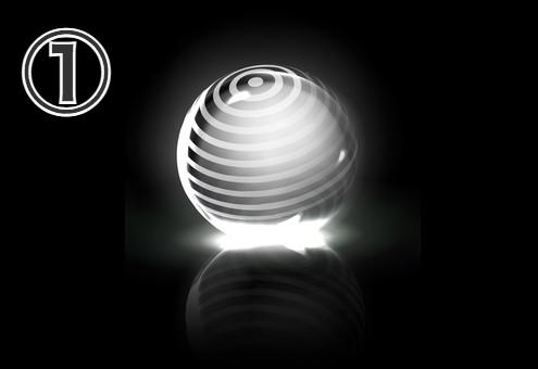 多重丸柄の球体