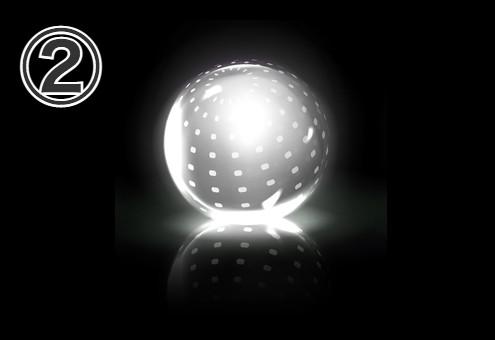 細かいドット柄の球体