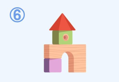 積み木でできたお城