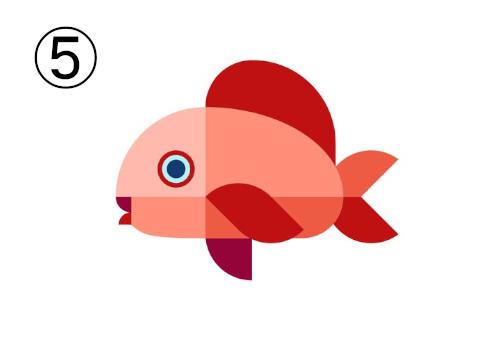 ヒレが赤の、コーラル色の魚
