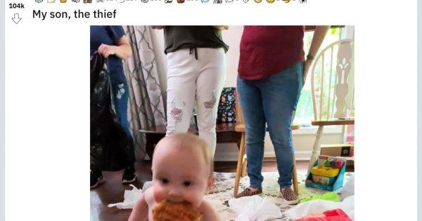 本人のママも大喜び!「お題:赤ちゃんピザ泥棒」でクソコラグランプリが開催されて笑う