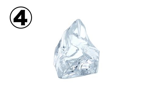 三角形のような小さめの氷