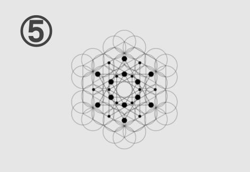 六角形と丸が組み合わさった図
