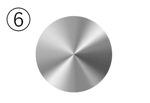 シルバーの金属丸